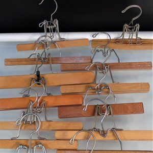 Wood Clamp Hangers Vintage Lot of 14